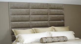 Custom King Upholstered Headboard